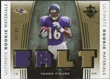 2007 Upper Deck Ultimate Collection Rookie Materials Gold #URMYF Yamon Figurs /99