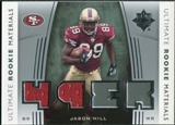 2007 Upper Deck Ultimate Collection Rookie Materials Silver #URMJH Jason Hill