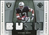 2007 Upper Deck Ultimate Collection Rookie Materials Silver #URMMB Michael Bush