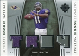 2007 Upper Deck Ultimate Collection Rookie Materials Silver #URMTS Troy Smith