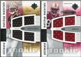 2007 Upper Deck Ultimate Collection Rookie Materials Matchup #MH Robert Meachem/Jason Hill /99
