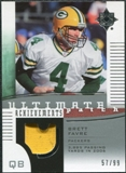 2007 Upper Deck Ultimate Collection Achievement Patches #UAPBF Brett Favre /99