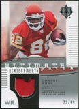 2007 Upper Deck Ultimate Collection Achievement Patches #UAPBO Dwayne Bowe /99