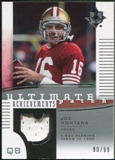 2007 Upper Deck Ultimate Collection Achievement Patches #UAPJM Joe Montana /99