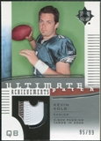 2007 Upper Deck Ultimate Collection Achievement Patches #UAPKK Kevin Kolb /99