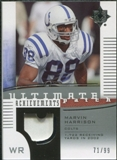 2007 Upper Deck Ultimate Collection Achievement Patches #UAPMH Marvin Harrison /99