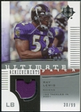 2007 Upper Deck Ultimate Collection Achievement Patches #UAPRL Ray Lewis /99