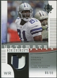 2007 Upper Deck Ultimate Collection Achievement Patches #UAPTO Terrell Owens /99