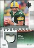 2007 Upper Deck Ultimate Collection Game Patches #UGPBF2 Brett Favre /99