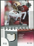 2007 Upper Deck Ultimate Collection Game Patches #UGPFG Frank Gore /99