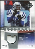 2007 Upper Deck Ultimate Collection Game Patches #UGPHA Marvin Harrison /99