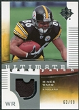 2007 Upper Deck Ultimate Collection Game Patches #UGPHW Hines Ward /99