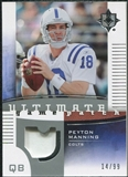 2007 Upper Deck Ultimate Collection Game Patches #UGPPM2 Peyton Manning /99