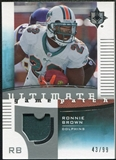 2007 Upper Deck Ultimate Collection Game Patches #UGPRB Ronnie Brown /99