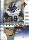 2007 Upper Deck Ultimate Collection Game Patches #UGPSJ Steven Jackson /99