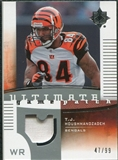2007 Upper Deck Ultimate Collection Game Patches #UGPTH T.J. Houshmandzadeh /99