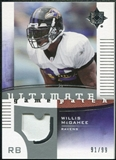 2007 Upper Deck Ultimate Collection Game Patches #UGPWM Willis McGahee /99