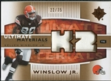 2007 Upper Deck Ultimate Collection Materials Patches #UMKW Kellen Winslow /35