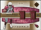 2007 Upper Deck Ultimate Collection Materials Patches #UMLF Larry Fitzgerald /35