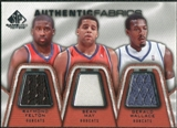 2007/08 Upper Deck SP Game Used Authentic Fabrics Triple #FMW Raymond Felton/Sean May/Gerald Wallace /50