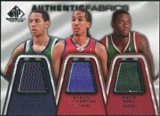 2007/08 Upper Deck SP Game Used Authentic Fabrics Triple #HLN Devin Harris/Shaun Livingston/David Noel /50