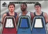 2007/08 Upper Deck SP Game Used Authentic Fabrics Triple #KNM Nenad Krstic/Nene/Darko Milicic /50