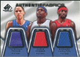 2007/08 Upper Deck SP Game Used Authentic Fabrics Triple #PWH Tayshaun Prince/Chris Webber/Richard Hamilton /5