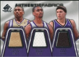 2007/08 Upper Deck SP Game Used Authentic Fabrics Triple #AMB Ron Artest/Quincy Douby/Mike Bibby /50