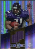 2004 Upper Deck Reflections Pro Cuts Jerseys Gold #PCJL Jamal Lewis