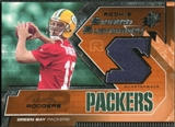 2005 Upper Deck SPx Rookie Swatch Supremacy #RSAR Aaron Rodgers