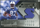 2005 Upper Deck SPx Swatch Supremacy #SWRE Reggie Wayne