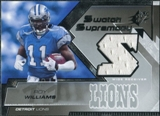 2005 Upper Deck SPx Swatch Supremacy #SWRW Roy Williams WR