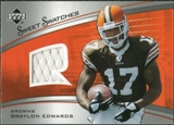 2005 Upper Deck Sweet Spot Rookie Sweet Swatches #SRBE Braylon Edwards