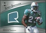 2005 Upper Deck Sweet Spot Rookie Sweet Swatches #SRRB Ronnie Brown