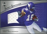 2005 Upper Deck Sweet Spot Rookie Sweet Swatches #SRTW Troy Williamson