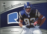 2005 Upper Deck Sweet Spot Rookie Sweet Swatches #SRVJ Vincent Jackson
