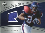 2005 Upper Deck Sweet Spot Rookie Sweet Swatches #SRVM Vernand Morency
