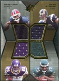 2007 Upper Deck SPx Freshman Tandems Quad Jerseys #LLPH Marshawn Lynch/Brian Leonard/Adrian Peterson/Tony Hunt