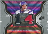 2007 Upper Deck SPx Winning Materials Jersey Number #WMBJ Brad Johnson