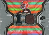 2007 Upper Deck SPx Winning Materials Jersey Number #WMBQ Brady Quinn