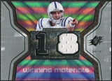 2007 Upper Deck SPx Winning Materials Jersey Number #WMPM Peyton Manning