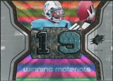 2007 Upper Deck SPx Winning Materials Jersey Number #WMTG Ted Ginn Jr.