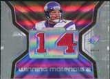 2007 Upper Deck SPx Winning Materials Jersey Number Dual #WMBJ Brad Johnson