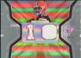 2007 Upper Deck SPx Winning Materials Jersey Number Dual #WMBQ Brady Quinn