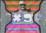 2007 Upper Deck SPx Winning Materials Jersey Number Dual #WMDB Drew Brees