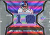 2007 Upper Deck SPx Winning Materials Jersey Number Dual #WMEM Eli Manning