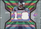 2007 Upper Deck SPx Winning Materials Jersey Number Dual #WMST Donte Stallworth