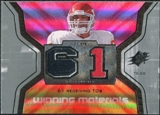 2007 Upper Deck SPx Winning Materials Stat #WMSGO Tony Gonzalez