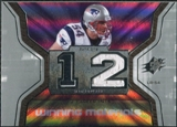 2007 Upper Deck SPx Winning Materials Stat #WMSTE Tedy Bruschi
