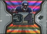 2007 Upper Deck SPx Winning Materials Stat #WMSTJ Thomas Jones